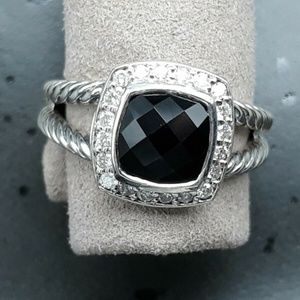 David Yurman Petite Albion Black Onyx Ring